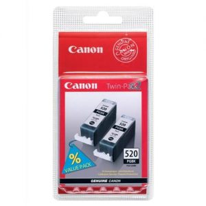 Canon PGI-520BK Inkjet Cartridge Black Ref 2932B009 [Pack 2] | 362431