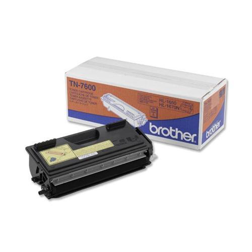 Brother Laser Toner Cartridge Page Life 6500pp Black Ref TN7600   523339