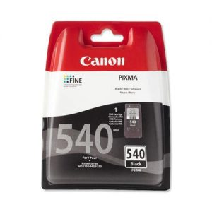 Canon PG-540 Inkjet Cartridge Page Life 180pp Black Ref 5225B005 | 553371