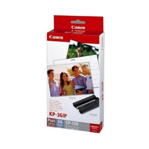 Canon CP100 Ink and Paper Photo Set 36 Sheets 102x152mm Colour Ref 7737A001AH | 579945