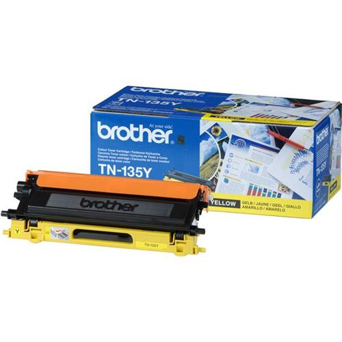 Brother Laser Toner Cartridge Page Life 4000pp Yellow Ref TN135Y | 718619