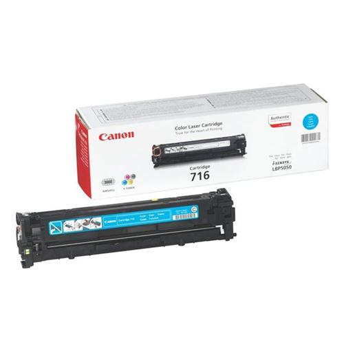 Canon 716C Laser Toner Cartridge Page Life 1500pp Cyan [for LBP5050/5050n] Ref 1979B002 | 829923
