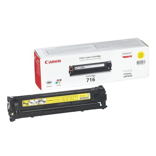 Canon 716Y Laser Toner Cartridge Page Life 1500pp Yellow [for LBP5050/5050n] Ref 1977B002 | 829949