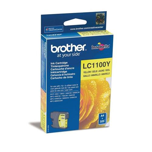 Brother Inkjet Cartridge Page Life 325pp Yellow Ref LC1100Y | 843682