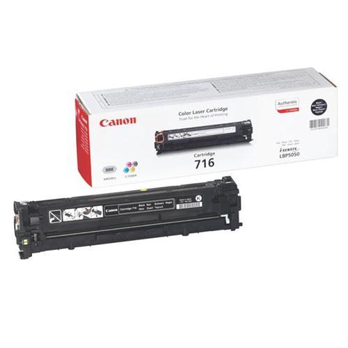 Canon 716BK Laser Toner Cartridge Page Life 2300pp Black [for LBP5050/5050n] Ref 1980B002 | 875004