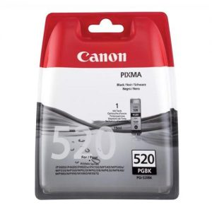 Canon PGI-520BK Inkjet Cartridge 19ml Page Life 324pp Black Ref 2932B001 | 877698