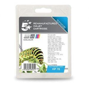 5 Star Office Remanufactured Inkjet Cartridge Colour [HP No. 78 C6578A Alternative] | 910652