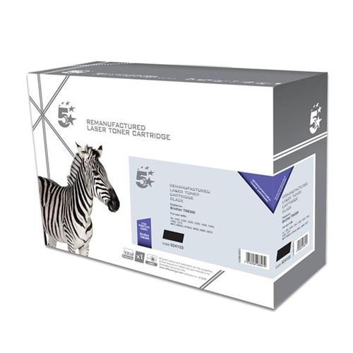 5 Star Office Remanufactured Laser Toner Cartridge Page Life 3000pp Black [Brother TN6300 Alternative] | 924103