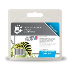 5 Star Office Remanufactured Inkjet Cartridge Page Life 450pp Colour [HP No. 344 C9363EE Alternative] | 924786