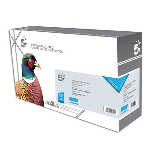 5 Star Office Remanufactured Laser Toner Cartridge 6000pp Cyan [HP No. 503A Q7581A Alternative] | 925888
