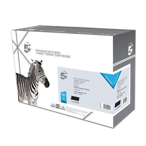5 Star Office Remanufactured Laser Toner Cartridge 6000pp Black [HP No. 501A Q6470A Alternative] | 925966
