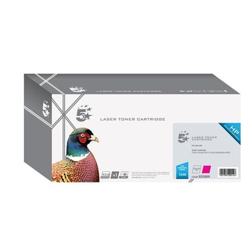 5 Star Office Remanufactured Laser Toner Cartridge 2000pp Magenta [HP No. 124A Q6003A Alternative]   925969