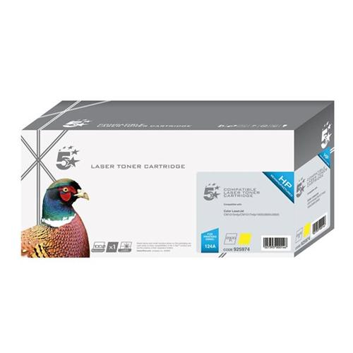 5 Star Office Remanufactured Laser Toner Cartridge 2000pp Yellow [HP No. 124A Q6002A Alternative]   925974