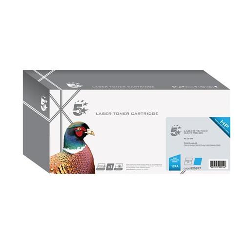 5 Star Office Remanufactured Laser Toner Cartridge 2000pp Cyan [HP No. 124A Q6001A Alternative] | 925977