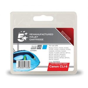 5 Star Office Remanufactured Inkjet Cartridge Page Life 935pp Cyan [Canon CLI-8C Alternative] | 927053