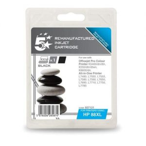5 Star Office Remanufactured Inkjet Cartridge Page Life 2300pp Black [HP No. 88XL C9396A Alternative] | 927121