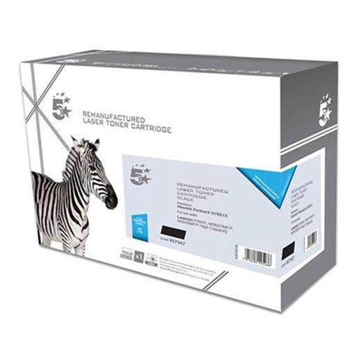 5 Star Office Remanufactured Laser Toner Cartridge 13000pp Black [HP No. 51X Q7551X Alternative]   927347