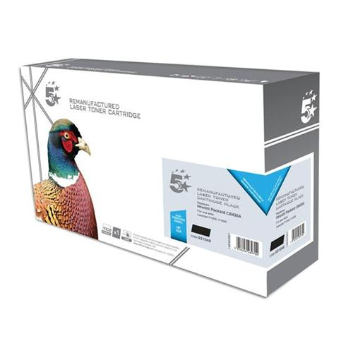 5 Star Office Remanufactured Laser Toner Cartridge 1500pp Black [HP No. 35A CB435A Alternative] | 931049