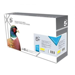 5 Star Office Remanufactured Laser Toner Cartridge 1400pp Yellow [HP No. 125A CB542A Alternative] | 931062