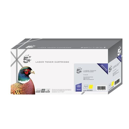 5 Star Office Remanufactured Laser Toner Cartridge Page Life 1400pp Yellow [Brother TN230Y Alternative] | 933363