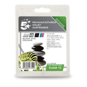 5 Star Office Remanufactured Inkjet Cartridge Black and Colour [Kodak 10B/10C Alternative][Pack 2] | 933708