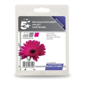 5 Star Office Remanufactured Inkjet Cartridge Page Life 1200pp Magenta [Brother LC1280XLM Alternative] | 934279