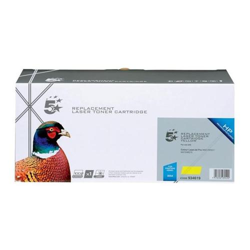 5 Star Office Remanufactured Laser Toner Cartridge 2600pp Yellow [HP No. 305A CE412A Alternative]   934619