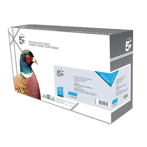 5 Star Office Remanufactured Laser Toner Cartridge 6000pp Cyan [HP No. 507A CE401A Alternative] | 935644
