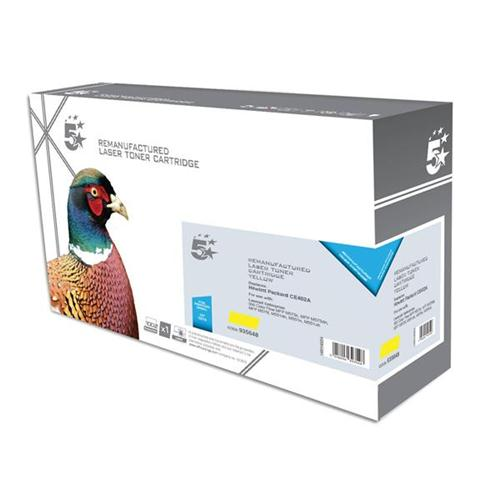 5 Star Office Remanufactured Laser Toner Cartridge 6000pp Yellow [HP No. 507A CE402A Alternative] | 935648