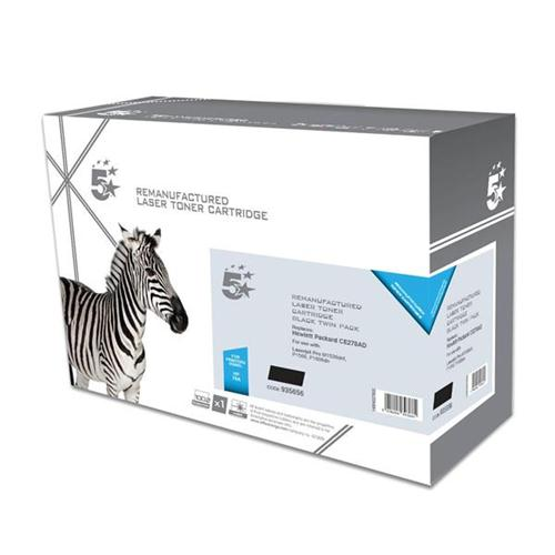 5 Star Office Remanufactured Laser Toner Cartridge 2100pp Black [HP 78A CE278AD Alternative] [Pack 2] | 935656