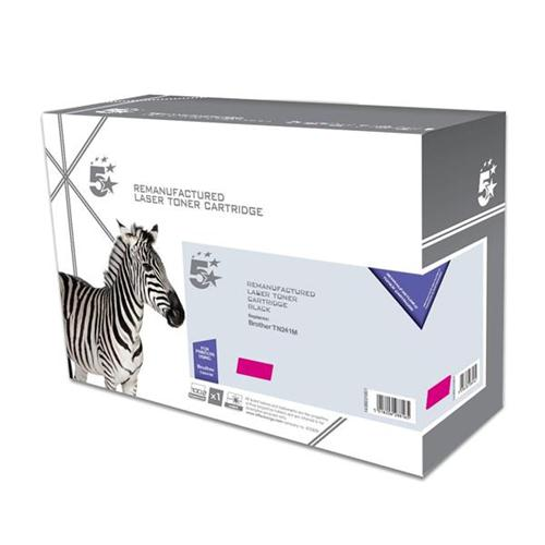 5 Star Office Remanufactured Laser Toner Cartridge Page Life 1400pp [Brother TN241M Alternative] Magenta | 938314