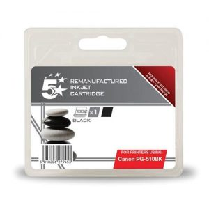 5 Star Office Remanufactured Inkjet Cartridge [Canon PG-510BK Alternative] Black | 938376
