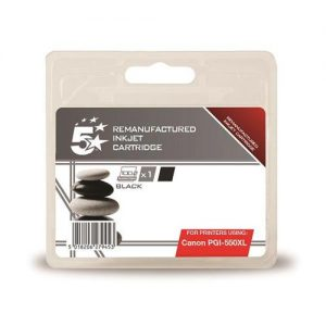 5 Star Office Remanufactured Inkjet Cartridge [Canon PGI-550 XL Alternative] Black | 938407