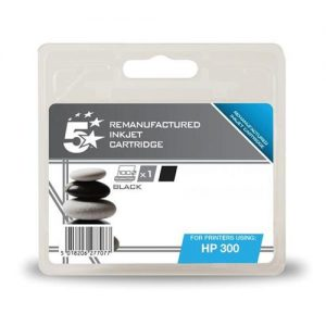 5 Star Office Remanufactured Inkjet Cartridge Page Life 200pp Black [HP No. 300 CC460EE Alternative] | 938449