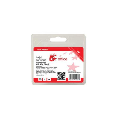 5 Star Office Remanufactured Inkjet Cartridge Page Life 250pp Black [HP No. 364 CB316EE Alternative]   938457