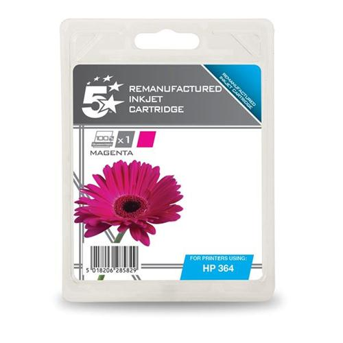 5 Star Office Remanufactured Inkjet Cartridge Page Life 300pp Magenta [HP No. 364 CB319EE Alternative] | 938470