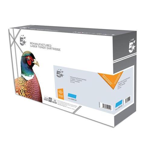 5 Star Office Remanufactured Laser Toner Cartridge 2800pp Cyan [Kyocera 1T02KTCNL0 Alternative] | 939123