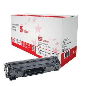 5 Star Office Remanufactured Laser Toner Cartridge 2200pp Black [HP No.83X CF283X HY Alternative]   940518