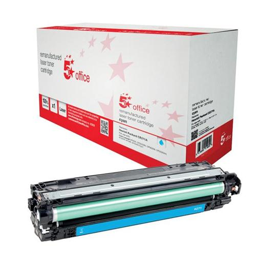 5 Star Office Remanufactured Laser Toner Cartridge Page Life 15000pp Cyan [HP 650A CE271A Alternative]   940712