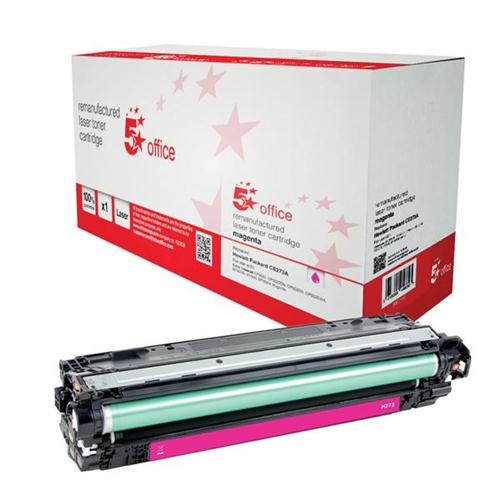 5 Star Office Remanufactured Laser Toner Cartridge Page Life 15000pp Magenta [HP 650A CE273A Alternative] | 940716