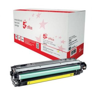 5 Star Office Remanufactured Laser Toner Cartridge Page Life 15000pp Yellow [HP 650A CE272A Alternative] | 940720