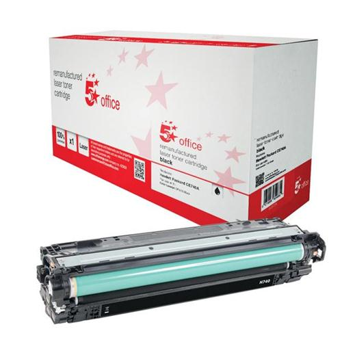 5 Star Office Remanufactured Laser Toner Cartridge Page Life 7000pp Black [HP 307A CE740A Alternative] | 940724
