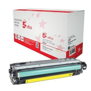 5 Star Office Remanufactured Laser Toner Cartridge Page Life 7300pp Yellow [HP 307A CE742A Alternative] | 940740