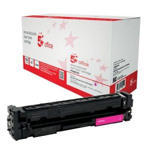 5 Star Office Remanufactured Laser Toner Cartridge Page Life 2300pp Magenta [HP 201X CF403X Alternative] | 940762