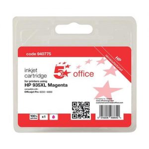 5 Star Office Remanufactured Inkjet Cartridge Page Life 825pp Magenta [HP No. 935XL C2P25AE Alternative] | 940775