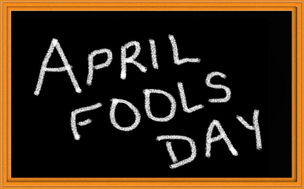 April fool! 3