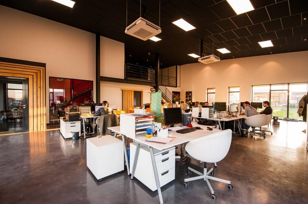 Modern office environment