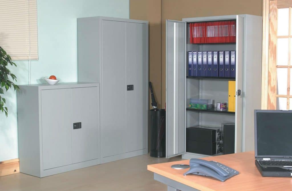 Metal Stationery Cupboard - 2 Door Trexus