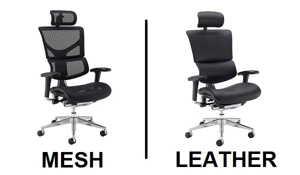 Dynamo Ergo Chair In Mesh Or Leather 1