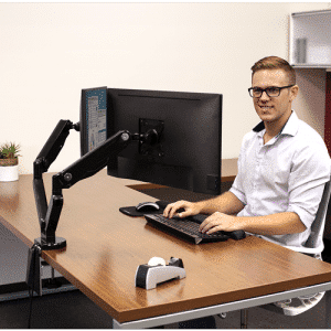 Fellowes Dual 360-degree Adjustable Monitor Arm
